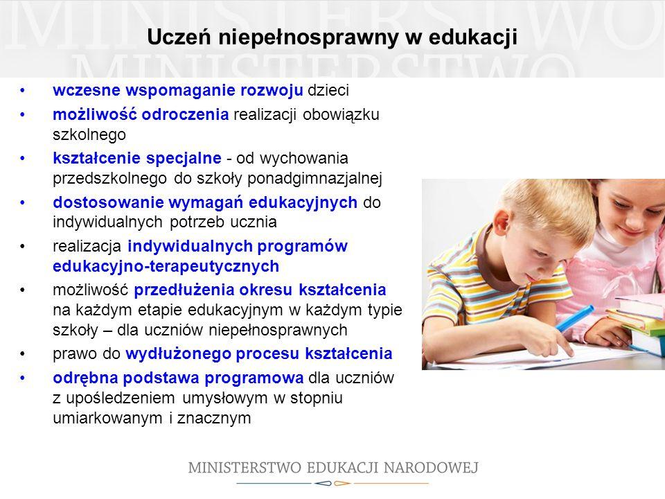 Uczeń niepełnosprawny w edukacji