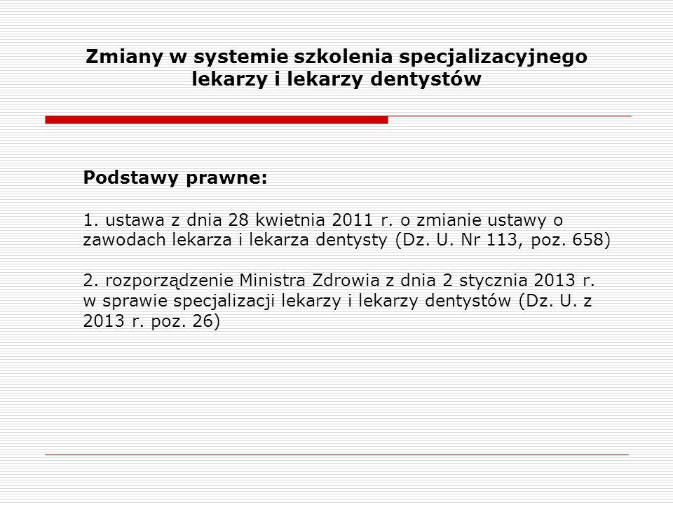 Zmiany w systemie szkolenia specjalizacyjnego lekarzy i lekarzy dentystów