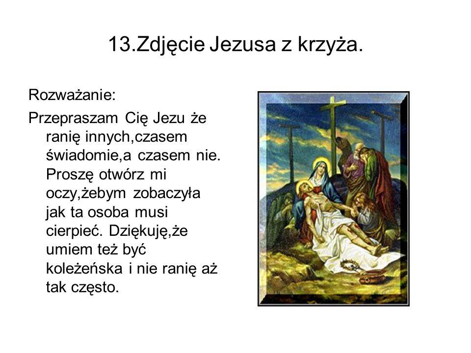 13.Zdjęcie Jezusa z krzyża.
