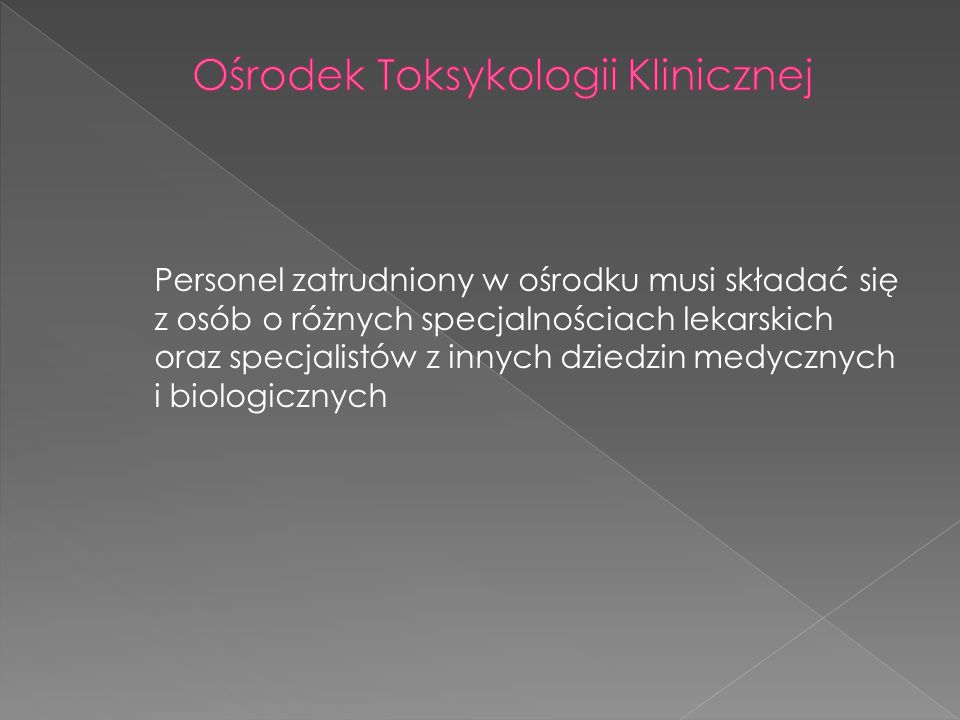 Ośrodek Toksykologii Klinicznej