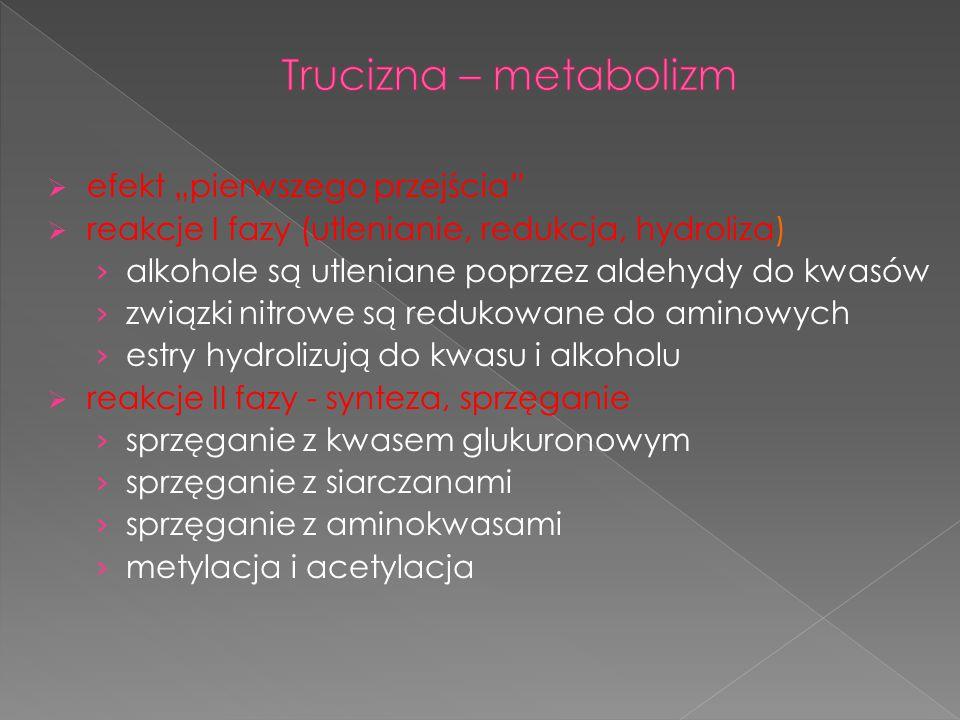 """Trucizna – metabolizm efekt """"pierwszego przejścia"""