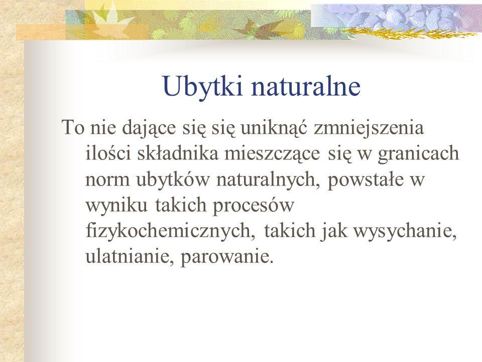 Ubytki naturalne