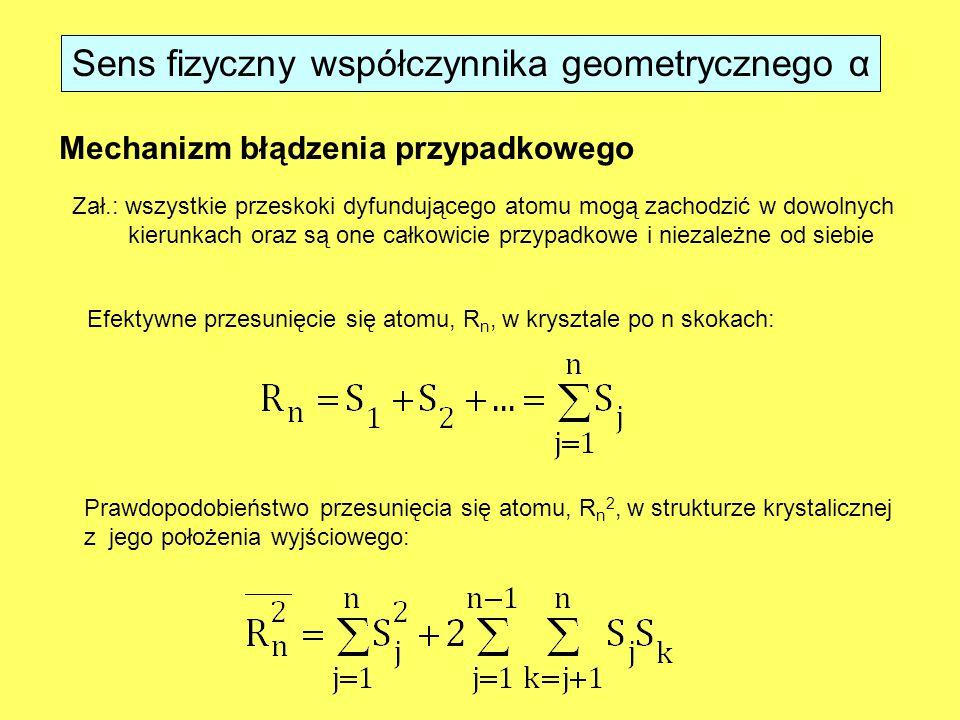 Sens fizyczny współczynnika geometrycznego α