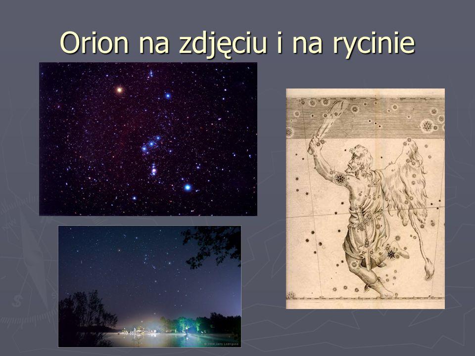 Orion na zdjęciu i na rycinie