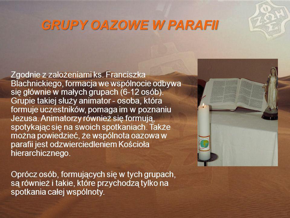 GRUPY OAZOWE W PARAFII