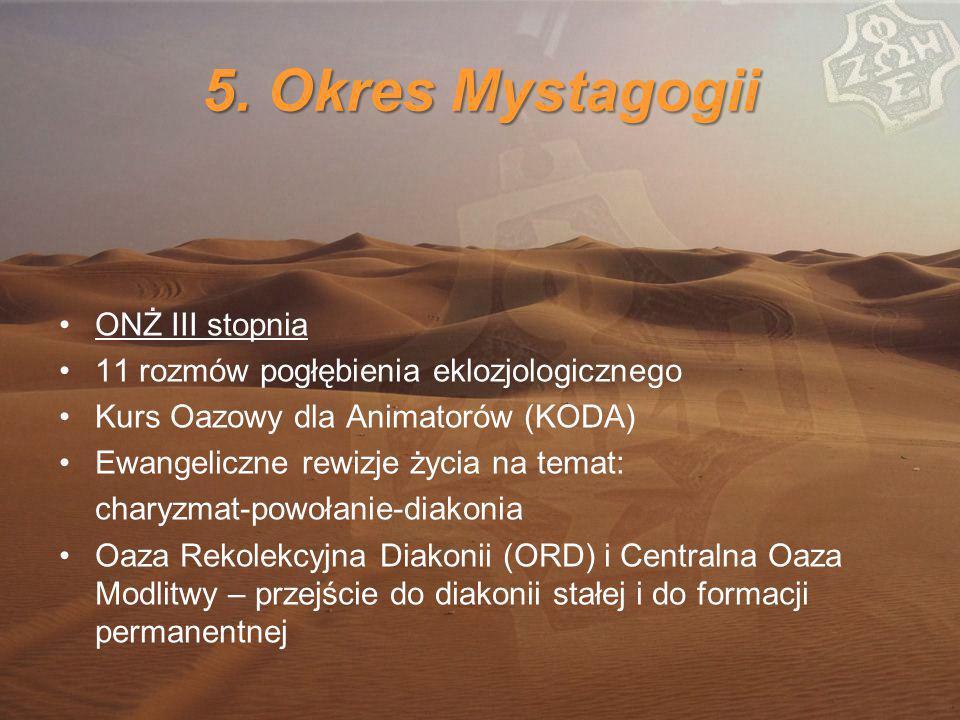 5. Okres Mystagogii ONŻ III stopnia