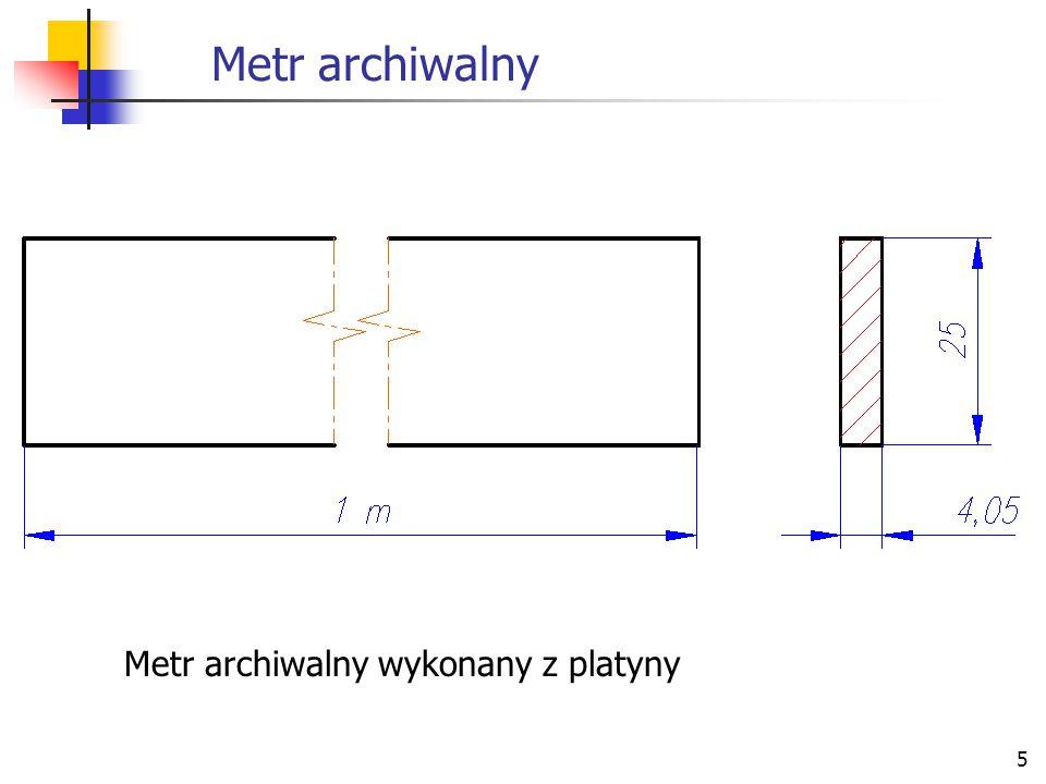 Metr archiwalny Metr archiwalny wykonany z platyny
