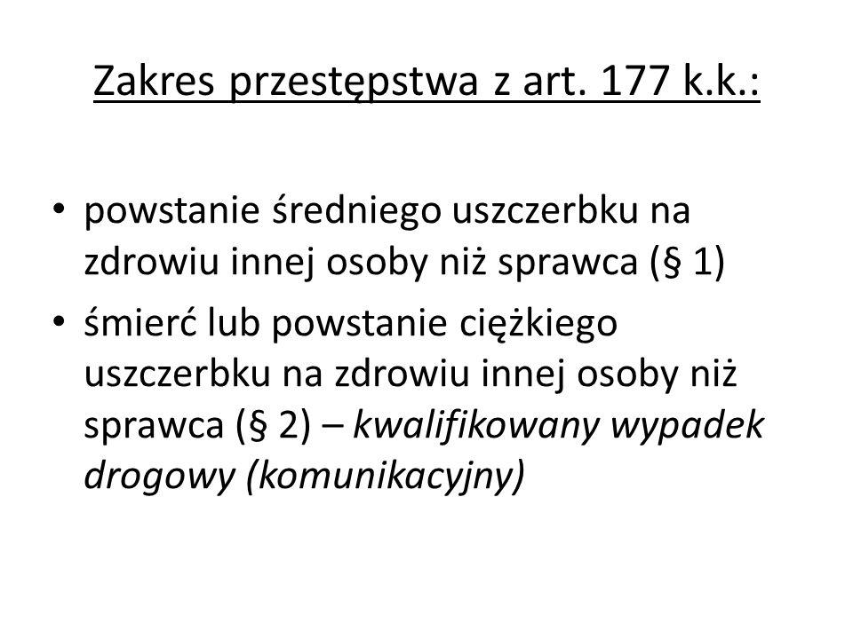 Zakres przestępstwa z art. 177 k.k.: