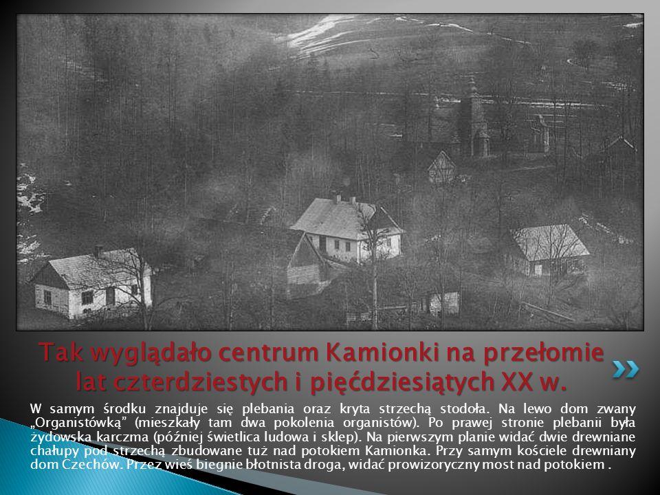 Tak wyglądało centrum Kamionki na przełomie lat czterdziestych i pięćdziesiątych XX w.