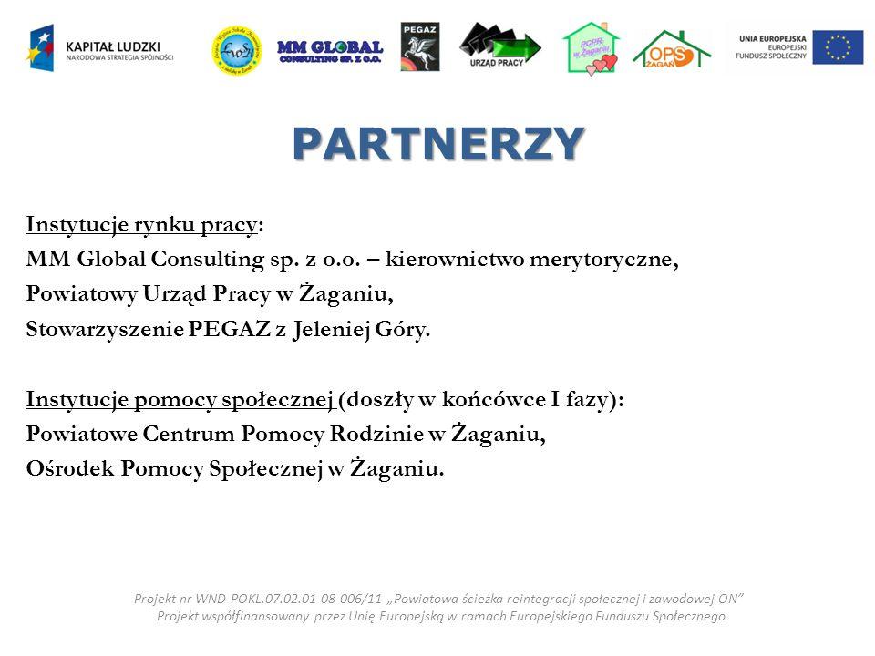 PARTNERZY Instytucje rynku pracy: