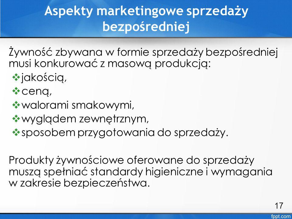 Aspekty marketingowe sprzedaży bezpośredniej