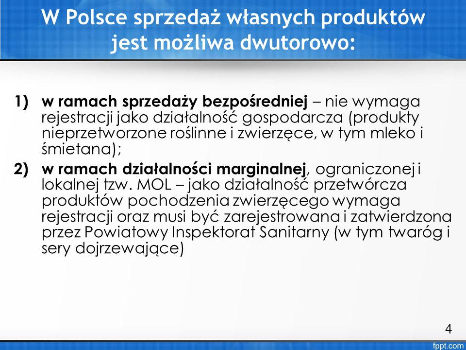 W Polsce sprzedaż własnych produktów jest możliwa dwutorowo: