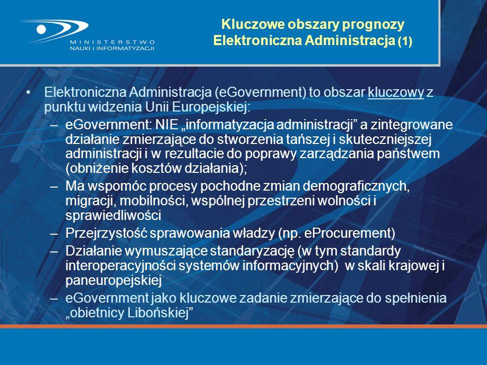 Kluczowe obszary prognozy Elektroniczna Administracja (1)