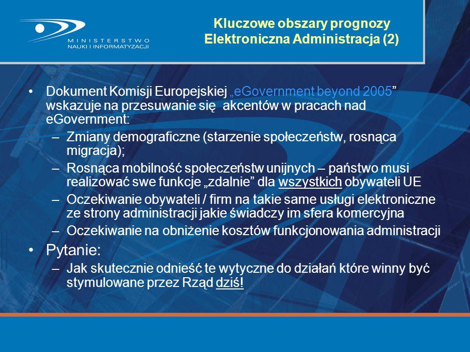 Kluczowe obszary prognozy Elektroniczna Administracja (2)