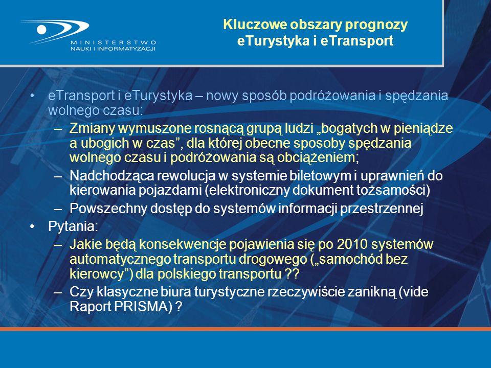 Kluczowe obszary prognozy eTurystyka i eTransport