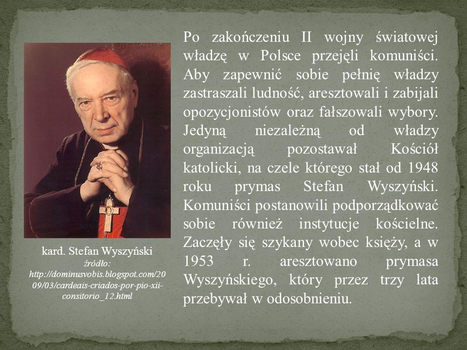 Po zakończeniu II wojny światowej władzę w Polsce przejęli komuniści