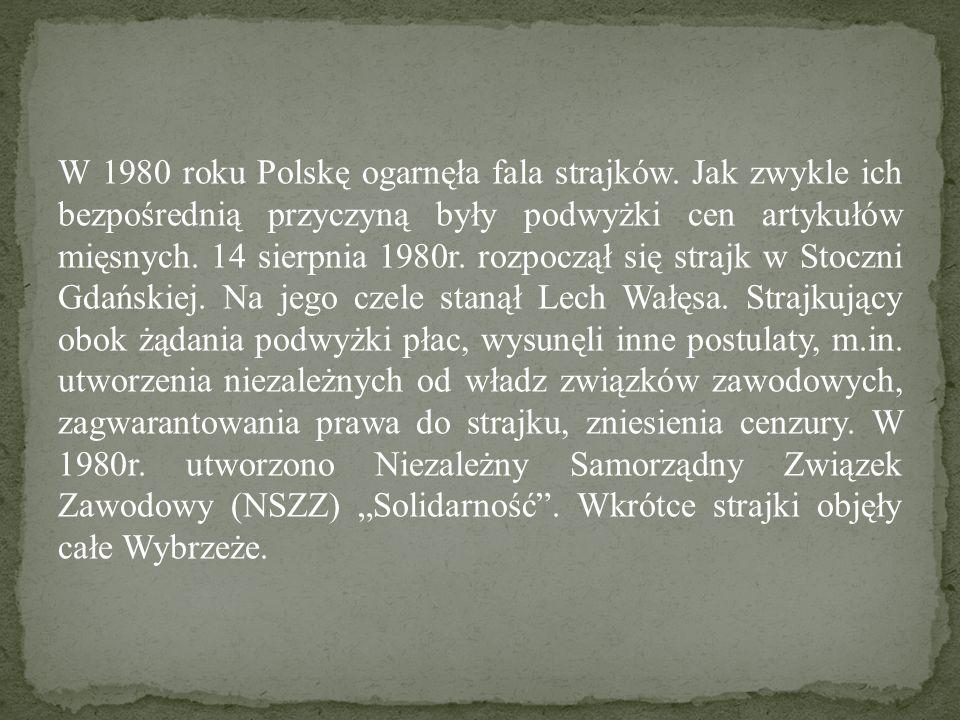 W 1980 roku Polskę ogarnęła fala strajków