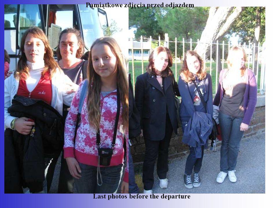 Pamiątkowe zdjęcia przed odjazdem Last photos before the departure