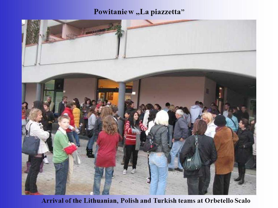 """Powitanie w """"La piazzetta"""