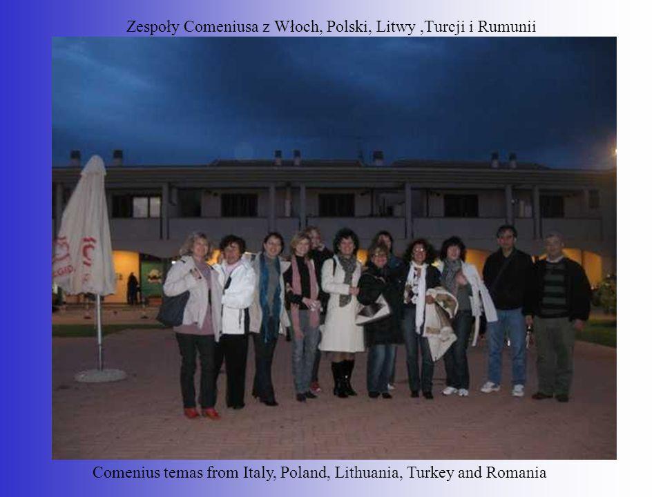 Zespoły Comeniusa z Włoch, Polski, Litwy ,Turcji i Rumunii