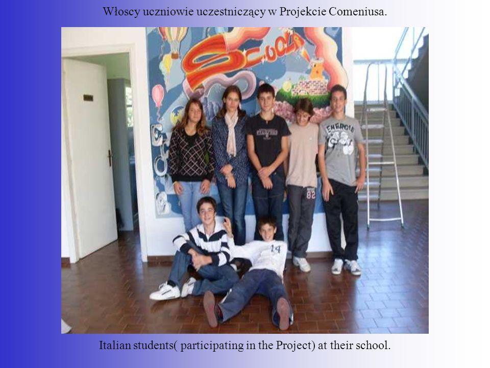 Włoscy uczniowie uczestniczący w Projekcie Comeniusa.