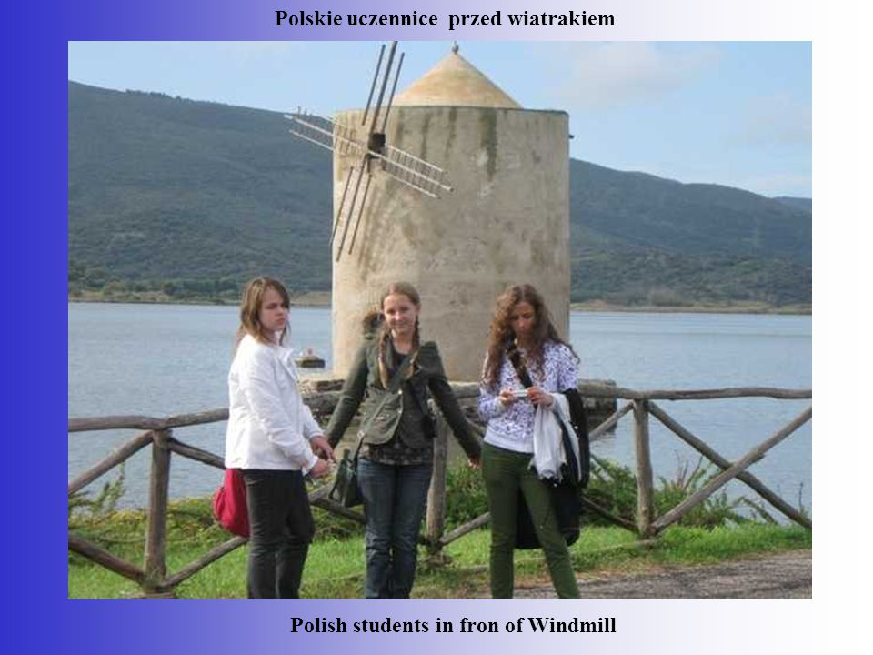 Polish students in fron of Windmill