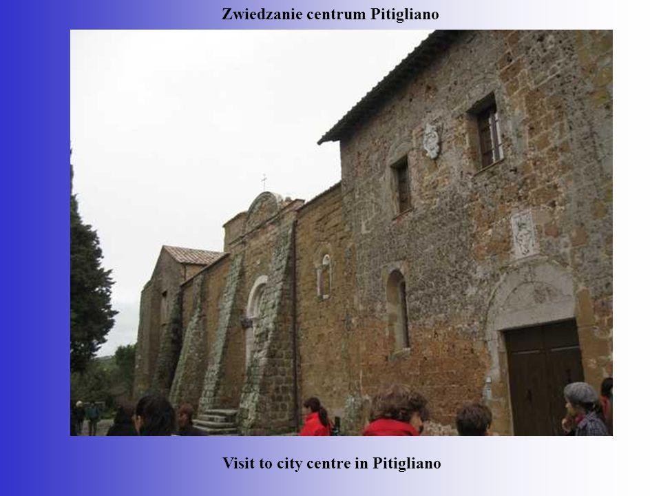 Zwiedzanie centrum Pitigliano