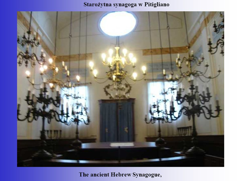 Starożytna synagoga w Pitigliano