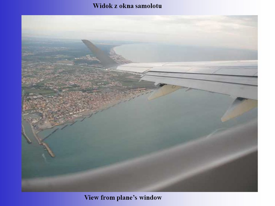 View from plane's window