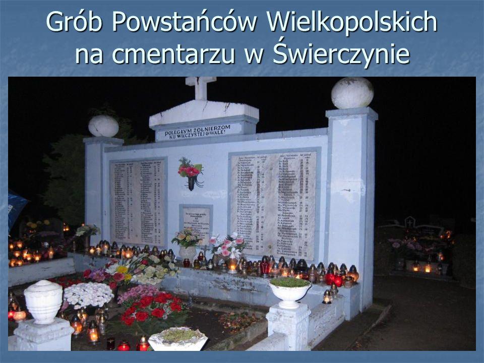 Grób Powstańców Wielkopolskich na cmentarzu w Świerczynie