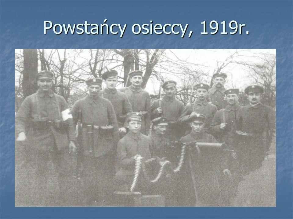 Powstańcy osieccy, 1919r.