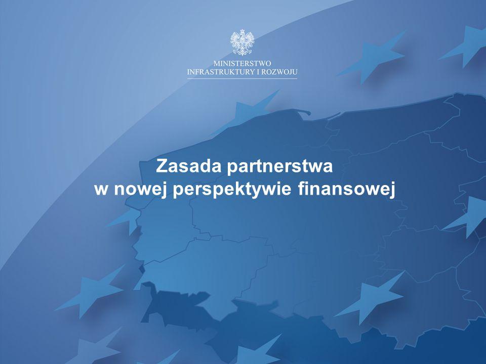 Zasada partnerstwa w nowej perspektywie finansowej
