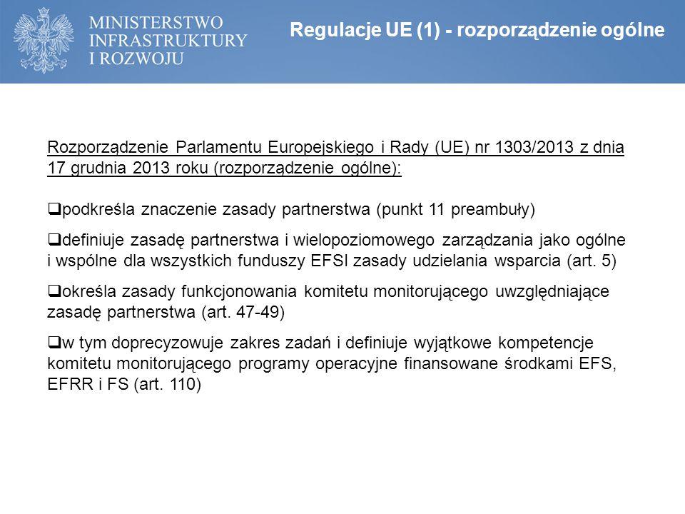 Regulacje UE (1) - rozporządzenie ogólne