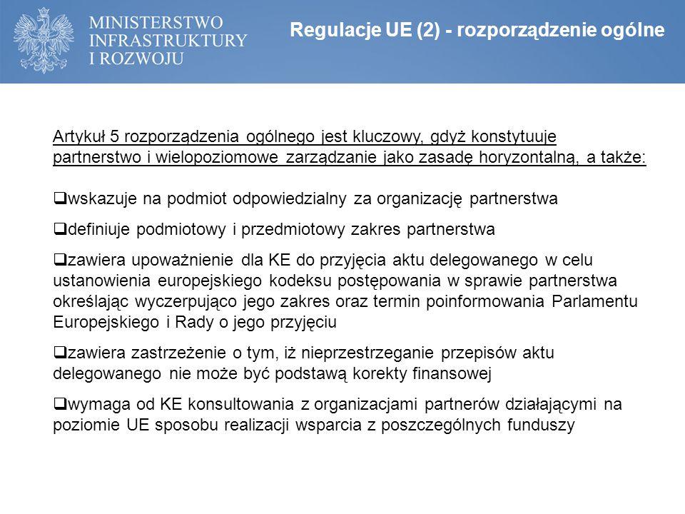 Regulacje UE (2) - rozporządzenie ogólne