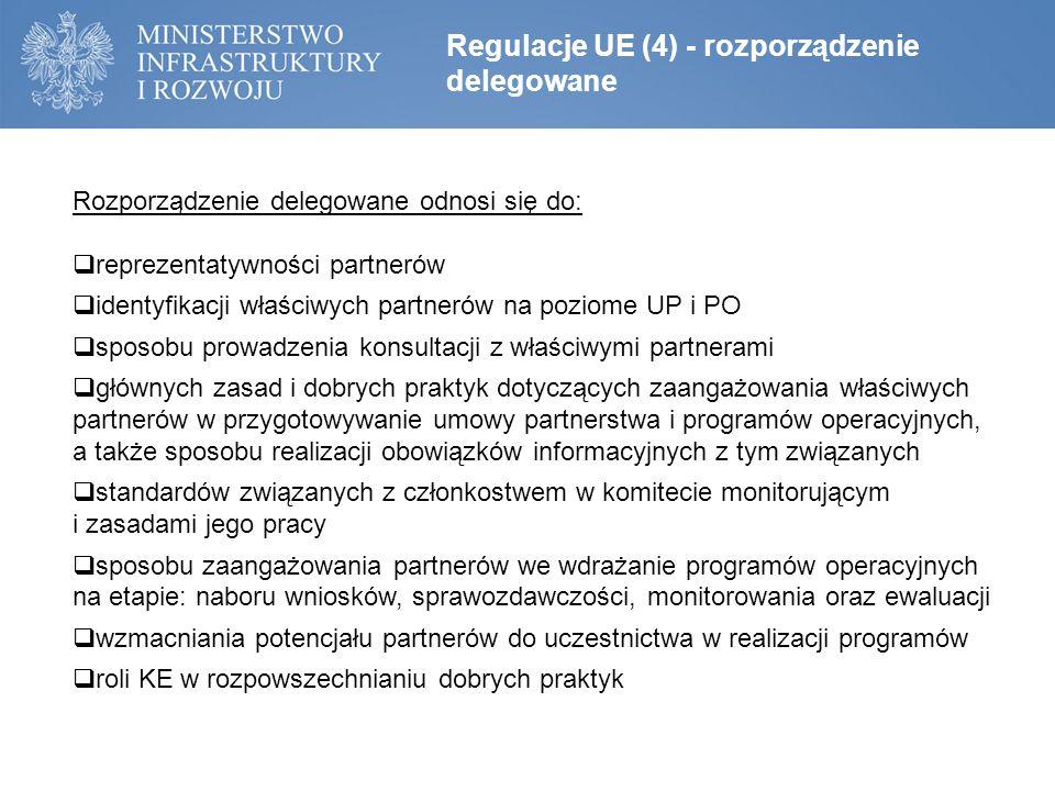 Regulacje UE (4) - rozporządzenie delegowane