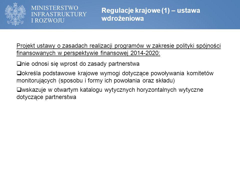 Regulacje krajowe (1) – ustawa wdrożeniowa
