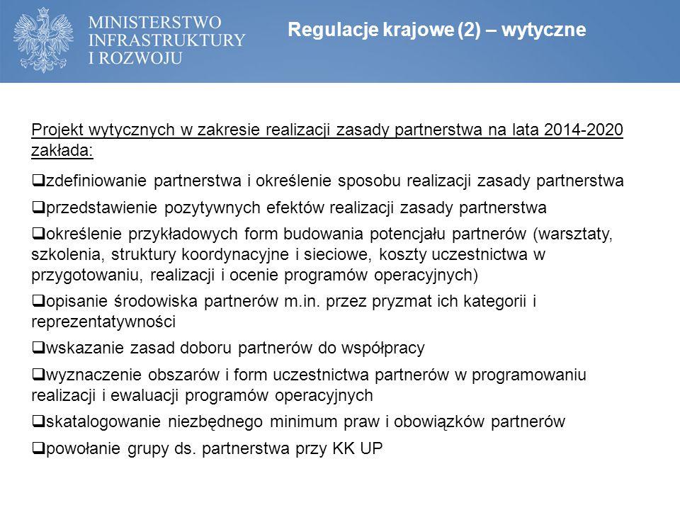 Regulacje krajowe (2) – wytyczne