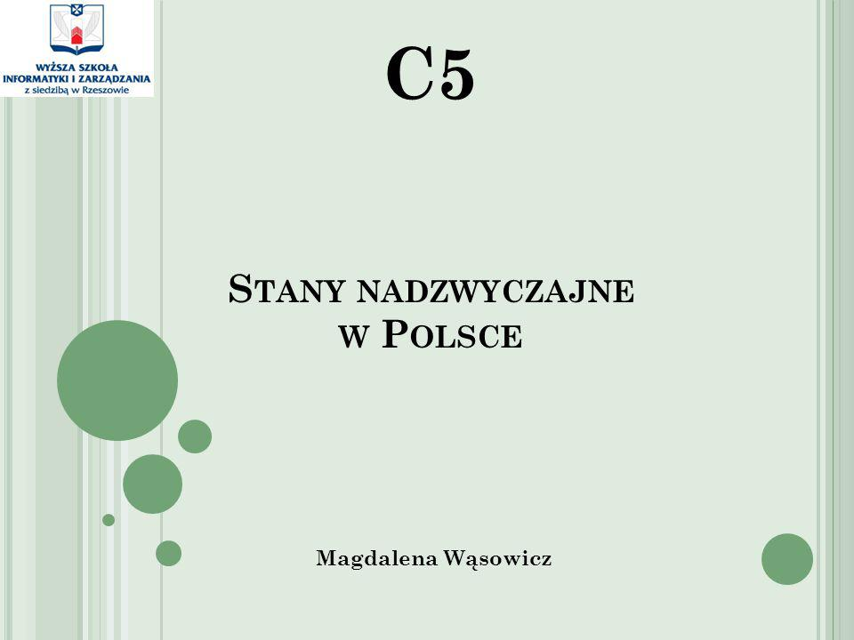 Stany nadzwyczajne w Polsce