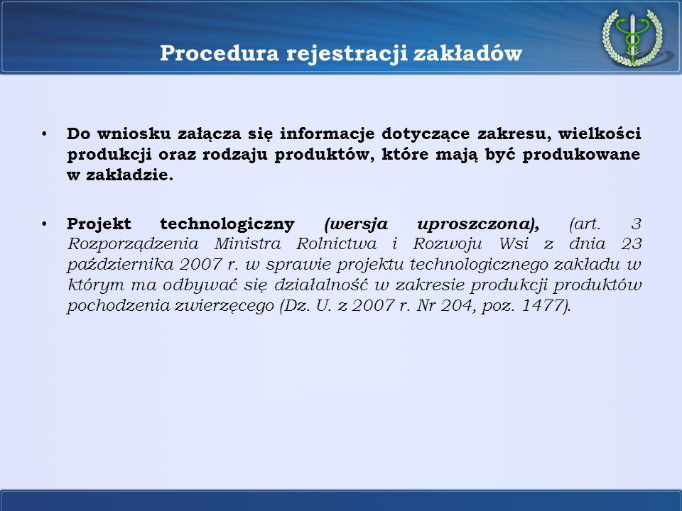 Procedura rejestracji zakładów