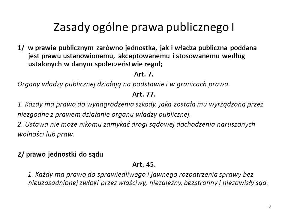 Zasady ogólne prawa publicznego I