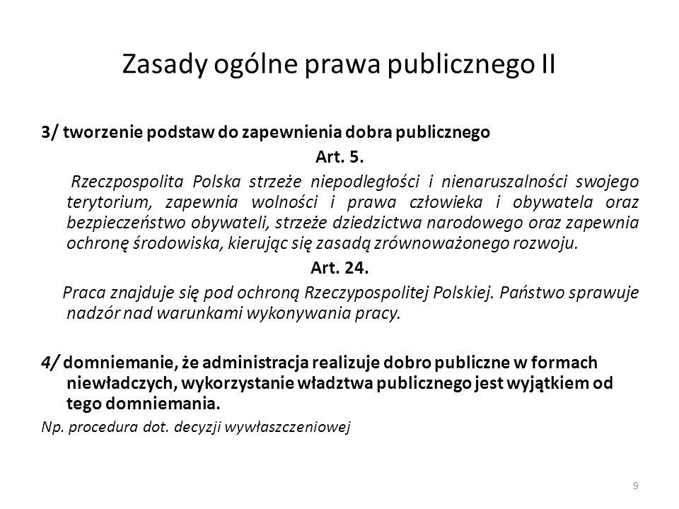 Zasady ogólne prawa publicznego II