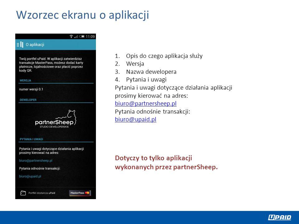 Wzorzec ekranu o aplikacji
