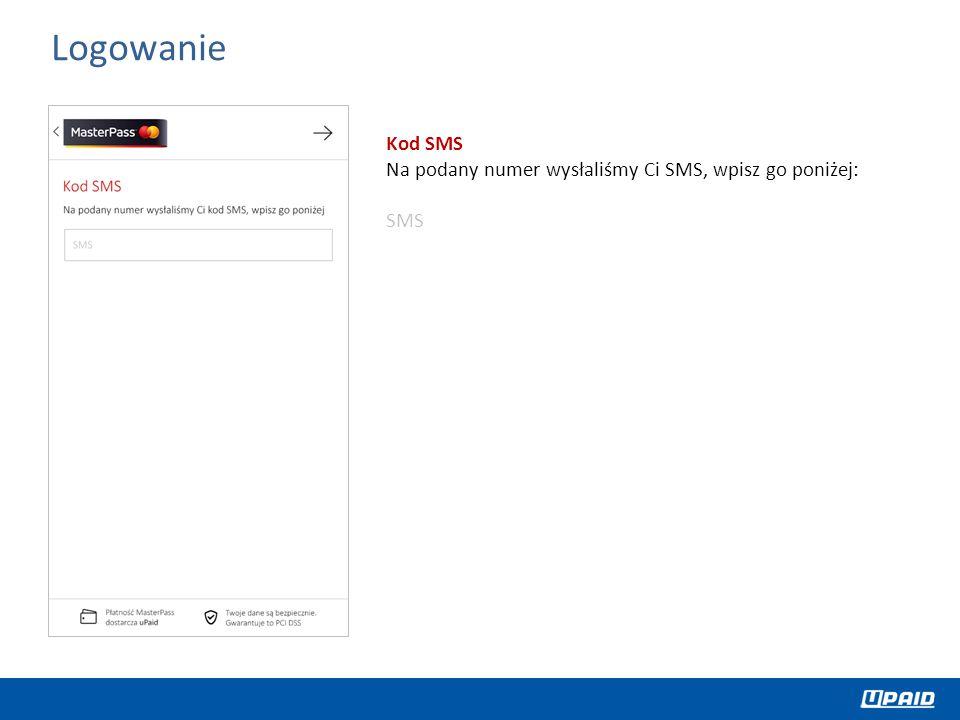 Logowanie Kod SMS Na podany numer wysłaliśmy Ci SMS, wpisz go poniżej: