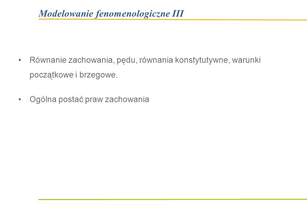 Modelowanie fenomenologiczne III