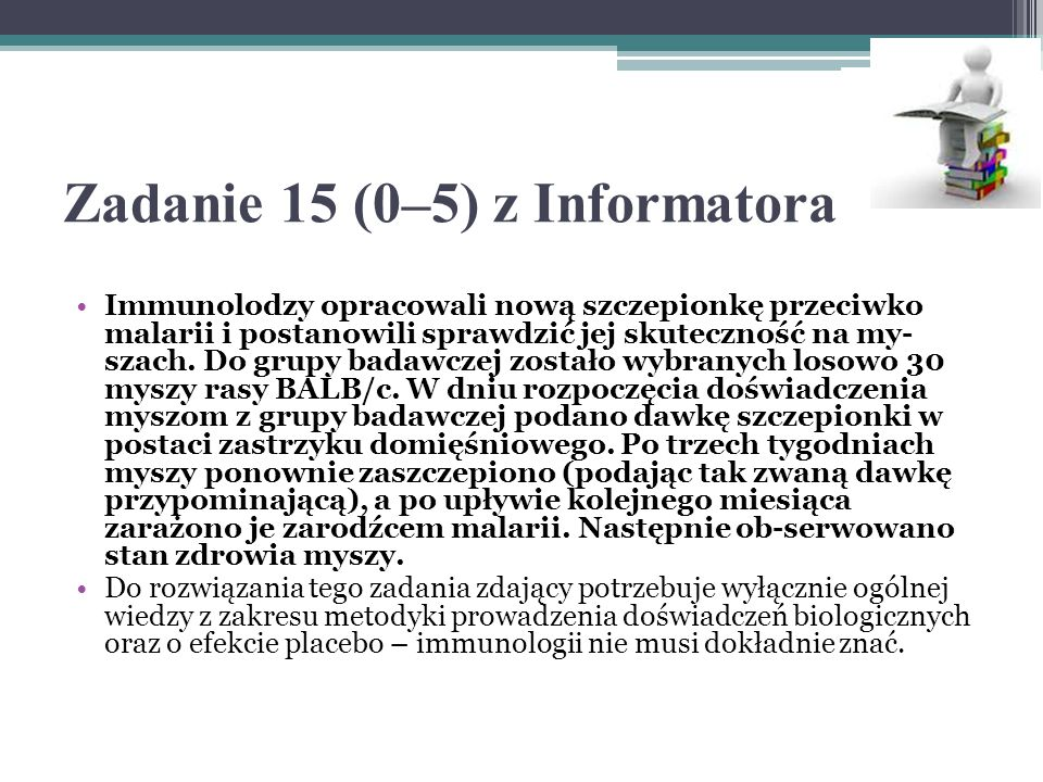 Zadanie 15 (0–5) z Informatora