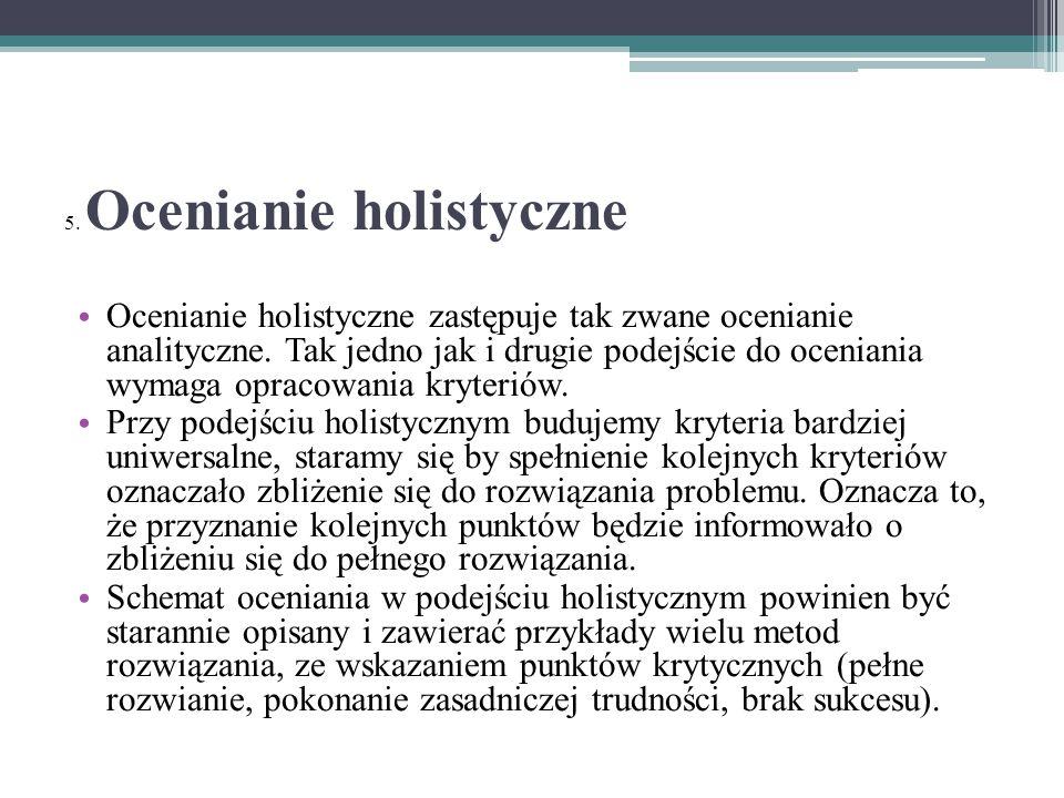 5. Ocenianie holistyczne