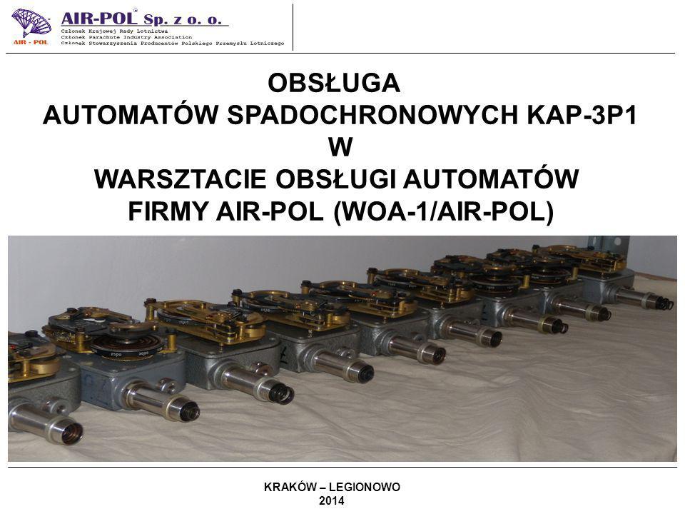 AUTOMATÓW SPADOCHRONOWYCH KAP-3P1 W WARSZTACIE OBSŁUGI AUTOMATÓW