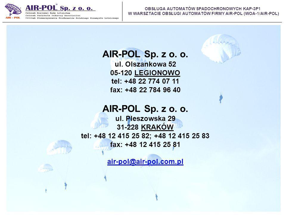 AIR-POL Sp. z o. o. ul. Olszankowa 52