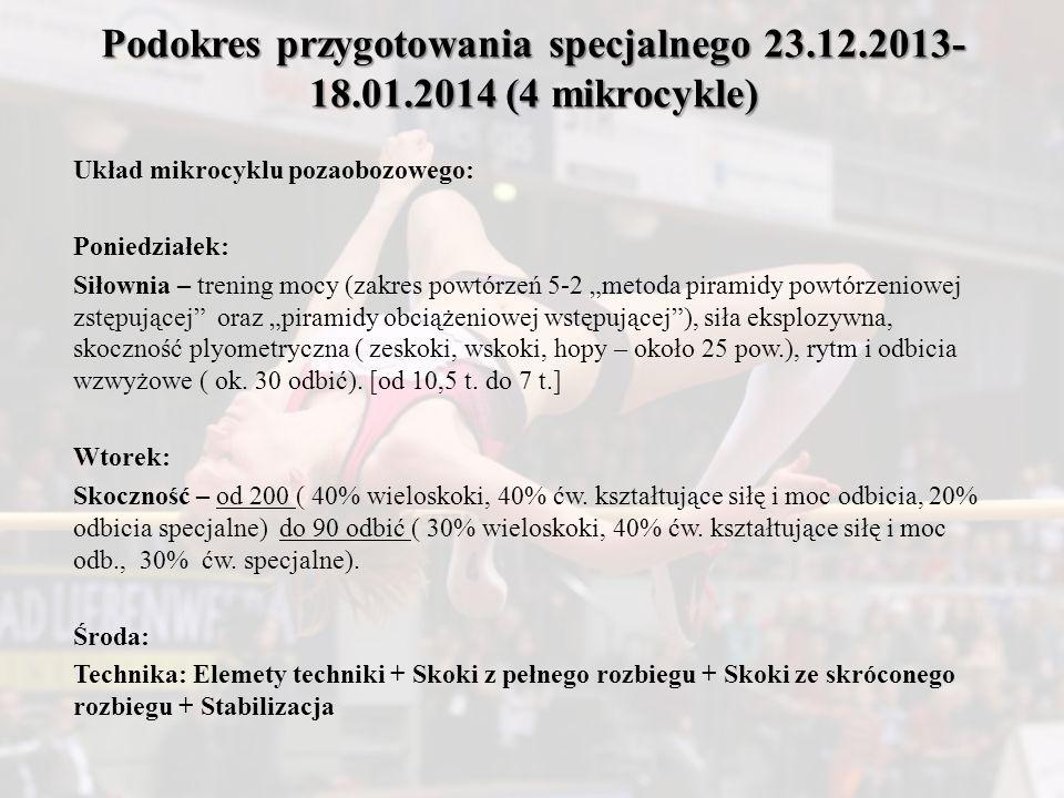 Podokres przygotowania specjalnego 23. 12. 2013-18. 01