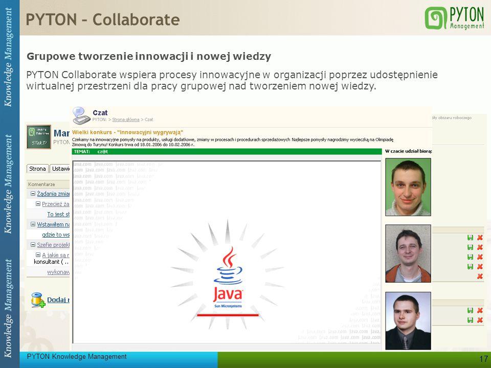 PYTON – Collaborate Grupowe tworzenie innowacji i nowej wiedzy